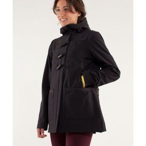 Lulu Paddington Softshell Coat Raincoat Hood Long
